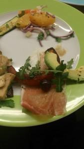 Warmer Kürbissalat mit Parmaschinken und Pecorino